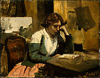 Young Girl Reading, c.1868, corot