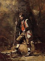 Young Italian Patriot in the Mountains, c.1855, corot