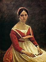 Young woman Mrs. Legois, 1838, corot