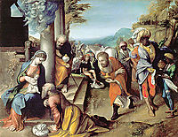 Adoration of the Magi , 1517, correggio