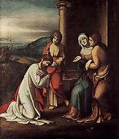 Departure of Christ from Mary, with Mary and Martha, the sisters of Lazarus, 1518, correggio