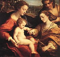 The Mystic Marriage of St. Catherine of Alexandria, c.1527, correggio