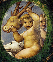 Putto With Hunting Trophy, 1519, correggio