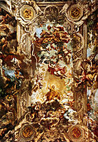 Allegory of Divine Providence and Barberini Power, 1639, cortona