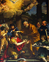 Ananias restoring the sight of Saint Paul, c.1631, cortona