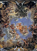 Ceiling Fresco with Medici Coat of Arms, 1644, cortona