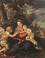 Holy Family Resting on the Flight to Egypt, 1643, cortona