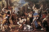 The Rape of the Sabine Women, 1629, cortona