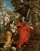 Return of Hagar, 1637, cortona