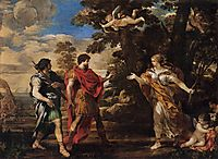 Venus Appearing to Aeneas as a Huntress, 1631, cortona