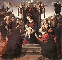 Mystical Marriage of St. Catherine of Alexandria, 1493, cosimo