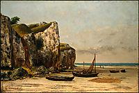 Beach in Normandie, 1872-1875, courbet