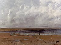 Beach at Trouville at Low Tide, 1865, courbet