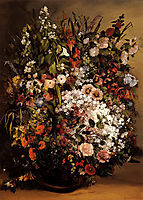 Bouquet of Flowers in a Vase, 1862, courbet