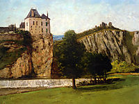 Castle of Thoraise, 1865, courbet