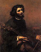 The Cellist, Self Portrait, 1847, courbet