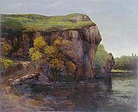 The Cliff, courbet