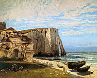 The Cliffs at Etretat, 1869, courbet