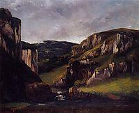 Cliffs near Ornans, 1865, courbet