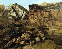 Crumbling Rocks, 1864, courbet