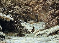 Deer Taking Shelter in Winter, 1866, courbet