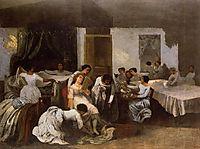 Dressing the Dead Girl, 1855, courbet