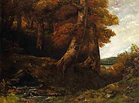 Entering the Forest, c.1855, courbet