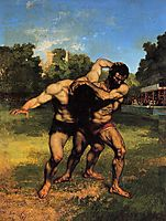 The fighters, 1853, courbet
