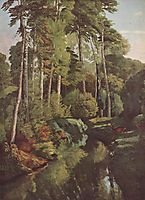 Forest Brook with Deer, 1868, courbet