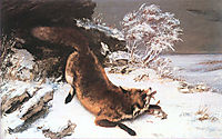 The Fox in the Snow, 1860, courbet