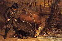The German Huntsman, 1859, courbet
