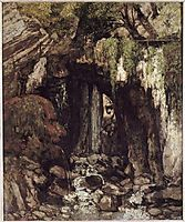 The Giants Cave from Saillon (Switzerland), 1873, courbet