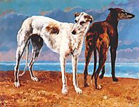 Greyhounds of Comte de Choiseul, 1866, courbet