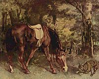 Horse in the Woods, 1863, courbet