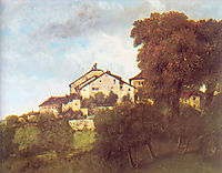 The Houses of the Chateau d-Ornans, 1853, courbet
