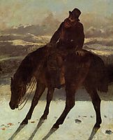 Hunter on Horseback, Redcovering the Trail, 1864, courbet