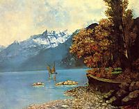 Lake Leman, 1874, courbet
