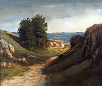 Landscape at Gruyere, 1874, courbet