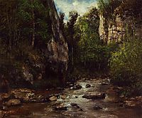 Landscape near Puit Noir, near Ornans, 1872, courbet