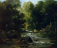 Landscape River, 1869, courbet