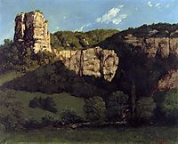 Landscape or Rocks in the Valley of Ornans, 1864, courbet
