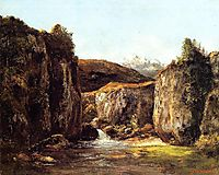 Landscape: The Source among The Rocks of the Doubs, 1871, courbet