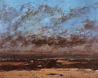 Low Tide , 1865, courbet