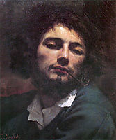 The man with the pipe, portrait, 1848-1849, courbet
