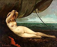 Nude Reclining by the Sea, courbet