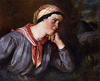 Peasant with Madras, 1848, courbet
