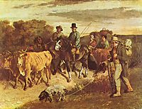 The Peasants of Flagey Returning from the Fair, 1855, courbet