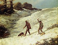Poachers in the Snow, 1867, courbet