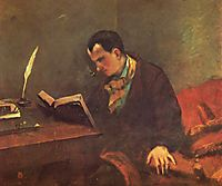 Portrait of Charles Baudelaire, 1849, courbet