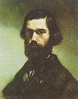 Portrait of Jules Valles , 1865, courbet